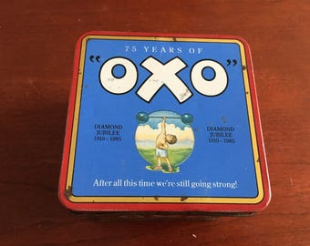 Vintage oxo cube diamond jubilee tin see photos for condition