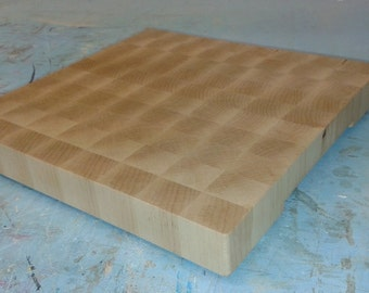 Chopping board, cutting board, butchers block, endgrain, wedding gift, Maple 500x350x40mm