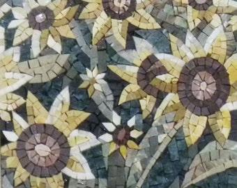 Sunflowers mosaic tiles