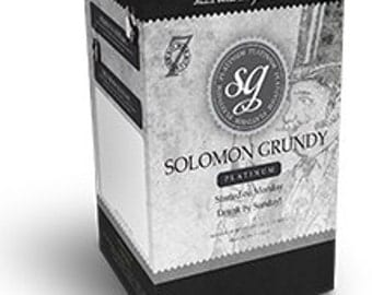 Solomon Grundy ,Platinum wine kit makes ,30 bottles ,in just 7 days! NO sugar to add,
