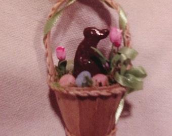 Tiny Chocolate Bunny Basket