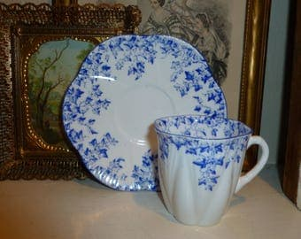 Sweet Vintage Shelly Demitasse Teacup And Saucer Made In England