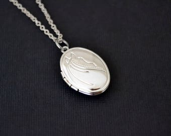 Silver Horse Locket, Horse Lover Jewelry, Horse Pendant
