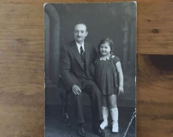 1900's Photograph - Father & Daughter