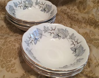 Royal Albert Silver Maple Cereal Soup Bowls Set of 4 (2 Sets Available)