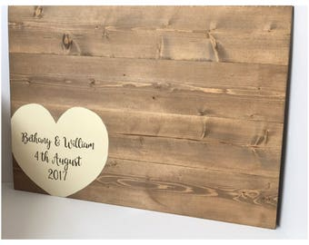 Extra large guest board - Guest book - Wedding guest book - Alternative guest book - Guest book ideas - Wood guest book - Rustic guest book