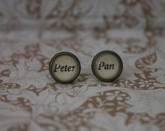 Peter Pan Earrings ~ Neverland ~ Captain Hook ~ J. M. Barrie ~