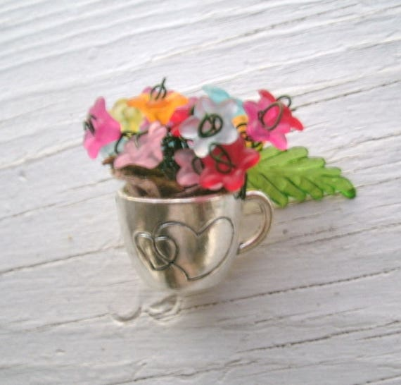 20% OFF Coupon On Miniature Flowers In Tiny Silver Cup