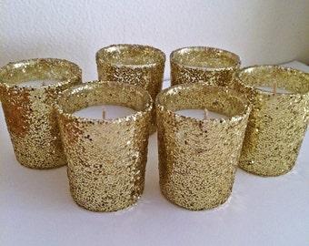 12 votives, votive candle holder, gold votives, votive holder, candle holder, candle votives, wedding centerpiece, wedding decorations
