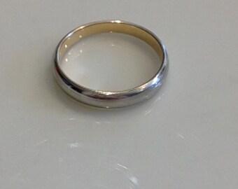 14K White Gold Wedding Band Ring ~2.8 Grams ~Size8