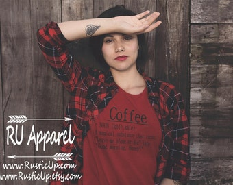 Coffee Shirt/Super Soft Tee/Definition Shirt/Funny/Mom life/Mama Bear/Teacher/Gift/Woman/Valentines Day