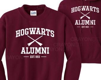 Harry Potter Hogwarts Alumni Sweatshirt and Hoodie