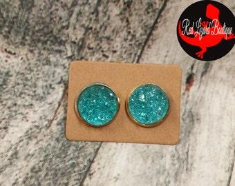 Druzy Earrings - Turquoise