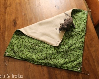 Large Cozy Flat Hammock For Rats, Ferrets, chinchillas and other small animals.
