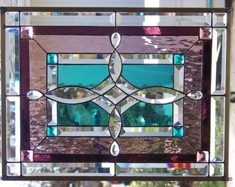 Stained Glass Window Hanging 16 3/4 X 22