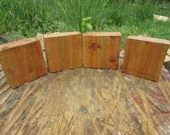 4 Red Elm bowl blanks