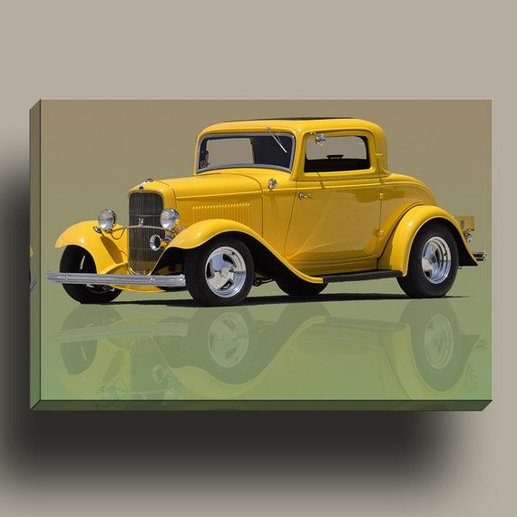 1932 Ford Coupe Street Rod - Mirror Wrap Hp Professional Matte Canvas