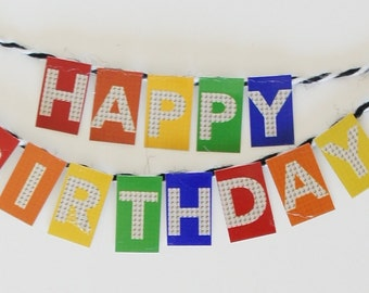 Happy Birthday Banner - Kids Party Decor