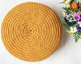 Crochet No Holes Pouf Cover, diy crochet pattern, pdf crochet pouf cover patterrn, diy pouf cover pattern, Crochet pouf cover pattern,