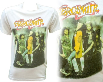 1987 RARE Aerosmith Band Tee T Shirt Permanent Vacation Album 1980 Women Steven Tyler Hair Metal Heavy Rock Classic Collectible Muscle Baby