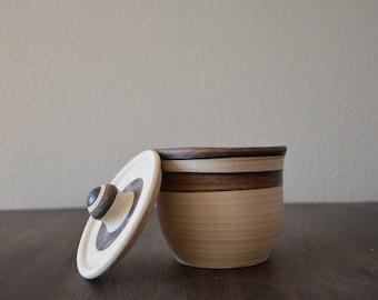 Handmade Small Ceramic Jar with Lid