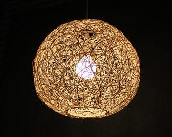 Rattan lampshade | Etsy