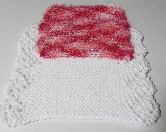 White Dishcloth Set, Pink Scrubby, Knitted Dishcloths, Cotton Dishcloths, Knit Dishcloths, Knit Scrubby, Hand Knit Dishcloths,  Dish Scrubby