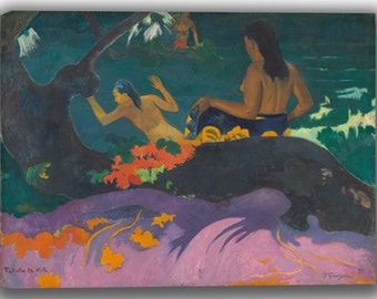 Paul Gauguin: Fatata te Miti (By the Sea). Fine Art Canvas. (04093)