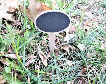 Fairy Garden Sign, Round Blank Fairy Garden Sign, Herb Marker Sign, Plant Marker Stake, Blank Garden Sign