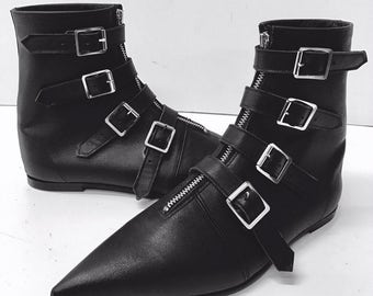 Original Pikes-4 Buckle Boots no front seam