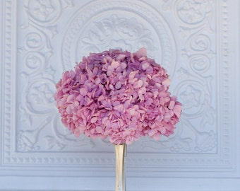 Preserved hydrangea bouquet, pink, fuchsia, dusty rose, bridal bouquet, dried flowers, real flowers,