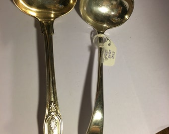 Choice of two EPNS sauce ladles 19th century