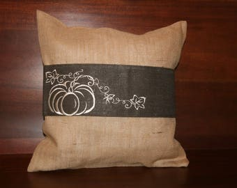 Fall Embroidered Pillow Wrap