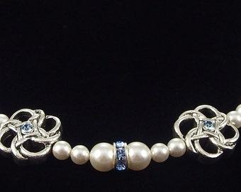 Aquamarine Medical ID Replacement Bracelet with Swarovski Crystals!