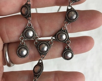Sterling Dome Pendant Choker -- 508