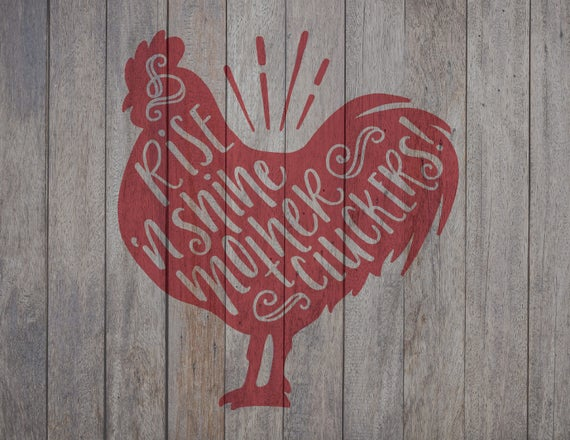 Hand Lettered Rooster Svg File Cricut File Silhouette