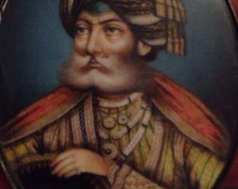 Miniature portait of Maharajah Gulab Singh of Kashmir 1870's