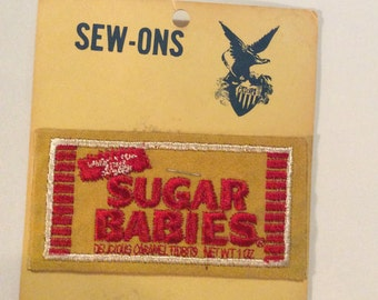 Vintage Sugar Babies Candy Sew On Patch