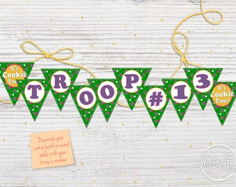 Girl Scout Cookie Booth/Event Polka Dot Bunting - Printable/Made-to-Order