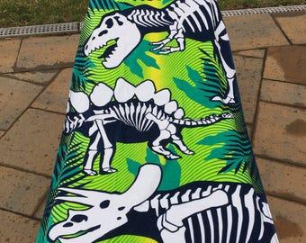 Dinosaur Dino Skeletons Beach Towel - Personalized Beach Towel