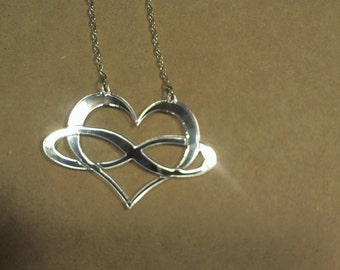 laser cut mirrored acrylic swinger lifestyle necklace 18 inch silver chain