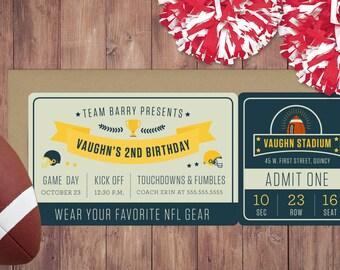Football / NFL Themed Birthday Invitation