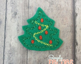 Christmas Tree Felties (no.1)--Set of 4