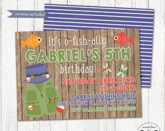 Fishing Birthday Invitation Printable / Fisherman Party Invite