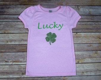 Clearance, St. Patty Shirt, Lucky Shirt, Kid St. Patrick's Day Shirt,