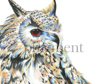 """Owl Painting - 10x10"""", 12x12"""", or 20x20"""""""