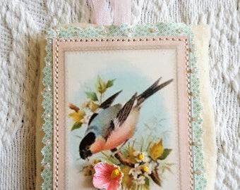 Handmade Bird Gift Tag