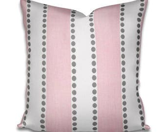 Pillow Cover Premier Prints LuLu Stripe Bella Pink - Pink pillow - Pink and white pillow - Babys room - Girls room - Baby decor - Baby pink
