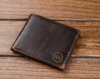 Gift for Dad,Mens Wallet,Personalized Wallet,Engraved Mens Wallet,Leather Wallet,Genuine Leather,leather wallet,Fathers Day,Christmas Gift