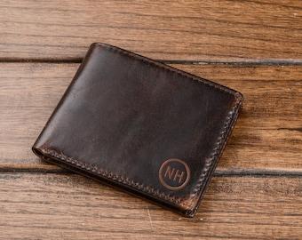 Wallet boyfriend gift mens wallet Bifold leather wallet personalized wallet wedding gift Personalized free Groomsmen Gift,men's wallet,gifts